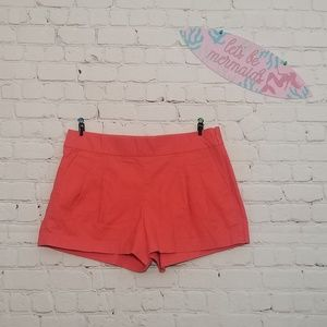 J. Crew | Coral Cotton Shorts Size 6